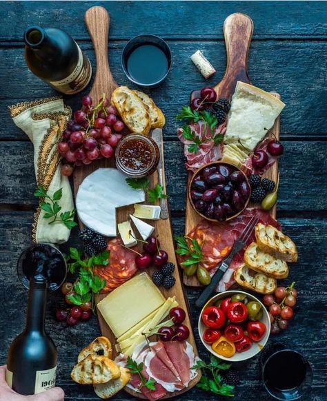Cheese + fruit + more. Cheese + fruit + more. Plateau Charcuterie, Charcuterie And Cheese Board, Charcuterie Platter, Antipasto Platter, Cheese Boards, Meat Platter, Crudite Platter Ideas, Grazing Platter Ideas, Cheese Board Display