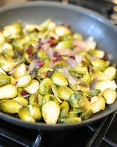 Brussels Sprouts, Squash and Cranberries #HealthyRecipes #LYFEKitchen #BrusselsSprouts #Squash #Cranberries