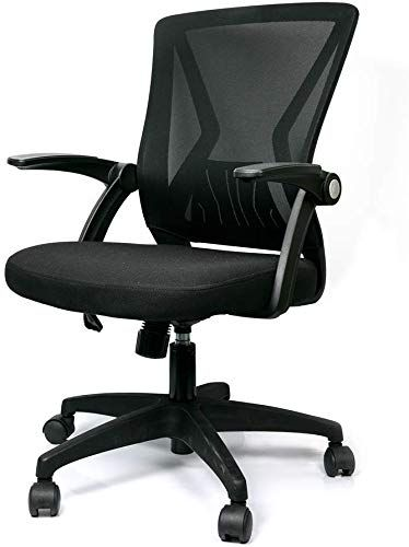 Amazing Offer On Sinovo Mid Back Mesh Office Chair Swivel Ergonomic Black Mesh Computer Chair Flip Up Arms With Lumbar Support Adjustable Height Task Chair Onli In 2020 Office Chair Computer