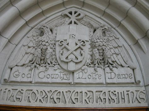 Motto of the University of Notre Dame (Joe Cruz photo).