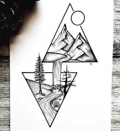 Ilustraciones de tinta.
