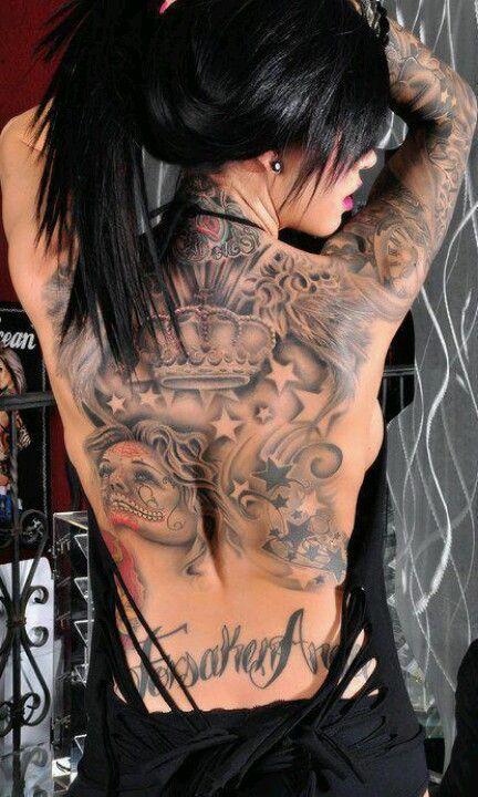 Jj tattoos rücken