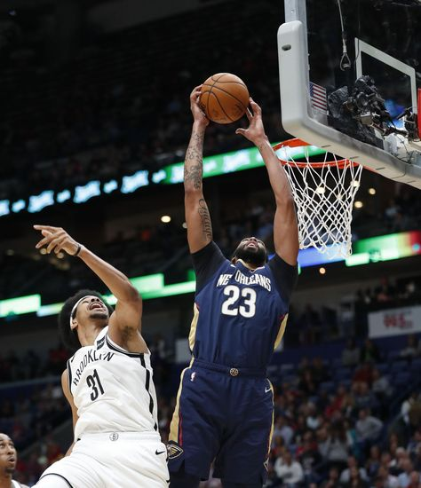 Holiday S Late Jumper Lifts Pelicans Past Nets 117 115 Nba Players Basketball News Nba