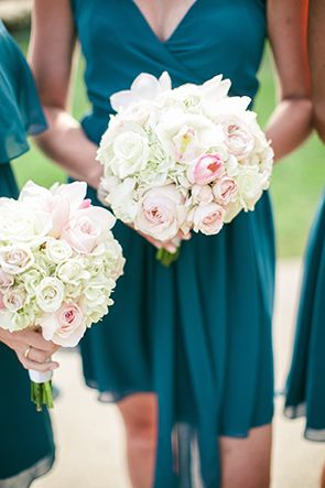 c67a5e7def COLOR! blush pink and teal wedding