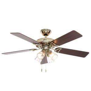 Hunter Studio Series 52 In Indoor Bright Brass Ceiling Fan With