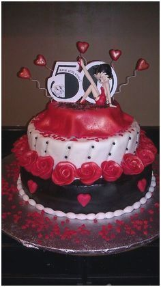 Surprising Betty Boop Cake Topper Tutorial Pretty Two Tier Betty Boop Cake Birthday Cards Printable Opercafe Filternl