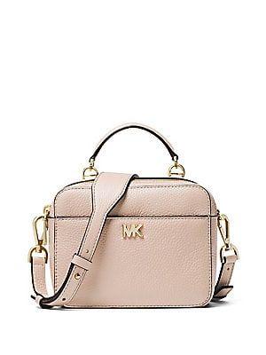 Michael Michael Kors Mott Mini Pebbled Leather Crossbody Womens Crossbody Bag Leather Crossbody Designer Crossbody Bags