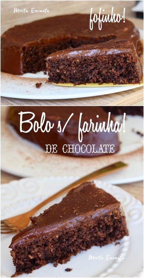 Bolo Sem Farinha De Chocolate Fofissimo E Umido Com Imagens