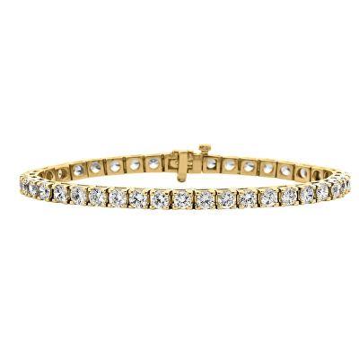 Jewelry 10 Ct Tw Diamond 7 Tennis Bracelet In 14k Yellow Gold With Images Tennis Bracelet Diamond 14k Gold Bangles Womens Jewelry Bracelets