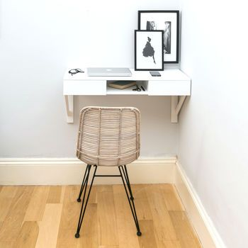 Floating Beech Desk Desks For Small Spaces Wall Mounted Desk