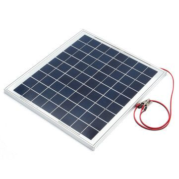 12v 10w Aluminum Alloy Frame Polycrystalline Solar Panel With Junction Box Solar Panels Solar Roof Solar Panel