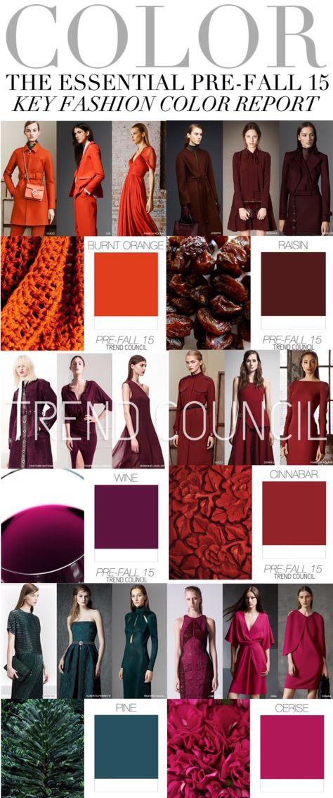 TREND COUNCIL:  COLOR - The Essential Pre-Fall '15 Key Fashion Color Report