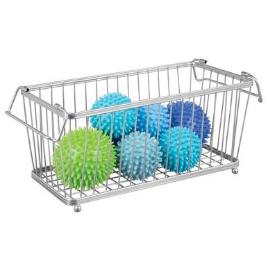 Mdesign Household Stackable Wire Storage Organizer Baskets Pack