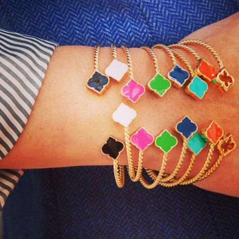 How darling, the baby spade bracelets from #SwellCaroline! This arm candy looks great stacked or alone. We heart all the color options!