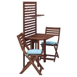 Applaro Pann Mural Table Pliante 2 Chaises Exterieur Teinte Brun Ikea En 2020 Table Pliante Ikea Lambris Murs