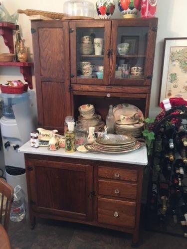 Details about Antique Hoosier Style Kitchen Cabinet in 2019 ...
