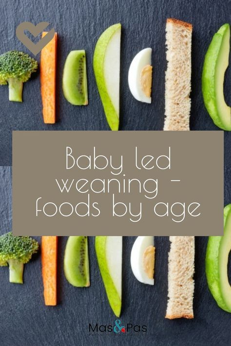 Baby led weaning foods by age