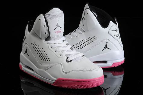 sports shoes 170cd cc1e4 Popular Hot Jordan Flight 45 White With Pink and Black Color Women Size  Sport Shoes-High on sale On Sale  JD26W394  New Arrival For Sale