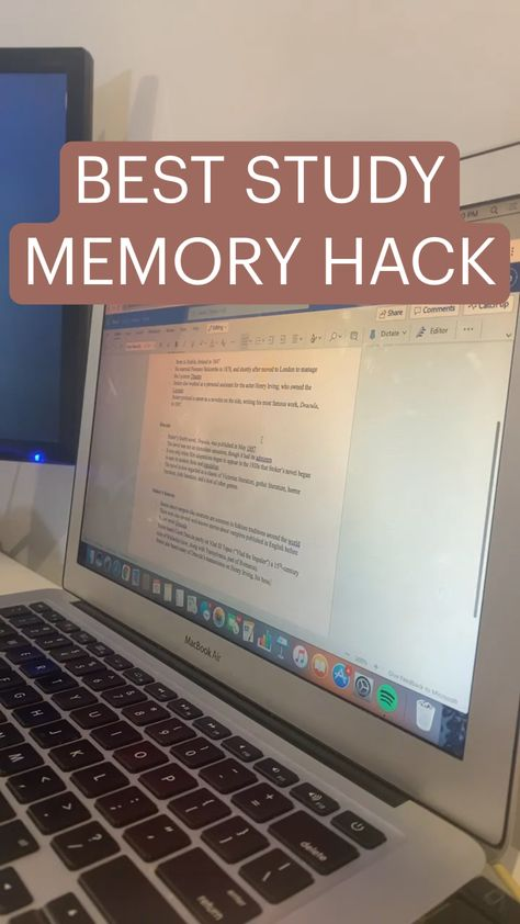 BEST STUDY MEMORY HACK