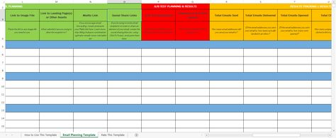 How to Easily Plan & Track Your Email Marketing Campaigns [Free Email Planning Template]