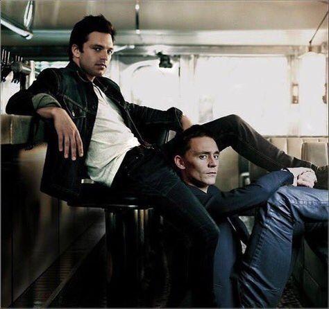 tom hiddleston and sebastian stan  on We Heart It