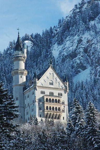 Neuschwanstein Schloss Nahe Fussen Deutschland Neuschwanstein Schloss Neuschwanstein Reisen