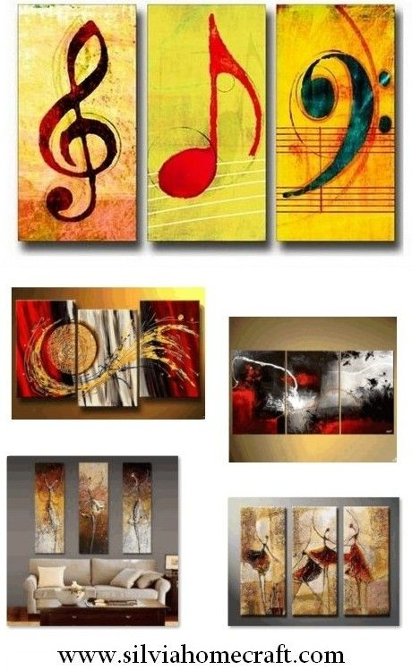 Musical Notes, Abstract Painting, Large Painting, Living ...