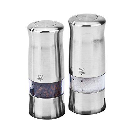 Peugeot Zeli Electric Salt Pepper Mill Set Review Salt Stuffed Peppers Salt Pepper Mills