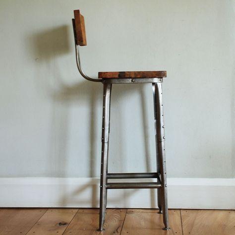 Admirable Bar Stool Chair Retro Metal Wooden Breakfast Bar Stools Ibusinesslaw Wood Chair Design Ideas Ibusinesslaworg