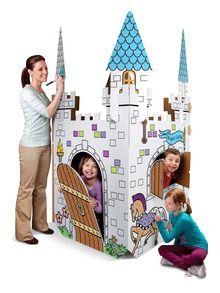 Cardboard Playhouses   KIDS ACTIVITIES + CRAFTS   Pinterest ...