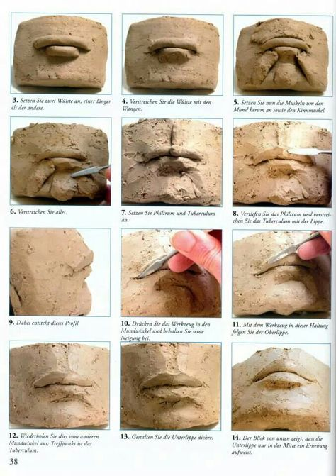Charlotte!  For you.  Ceramics how to: create a realistic mouth with clay.