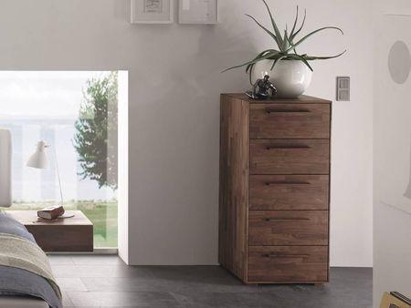 Commode Moderno Alto 3 En Noyer Massif Hasena Fabricant Suisse Meuble Pour La Chambre Commode Massif Mobilier De Salon