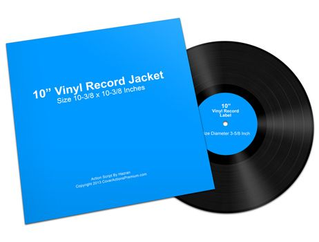 10 Inch Vinyl Record Mock Ups Cover Actions Premium Mockup Psd Template Vinyl Records Records Vinyl