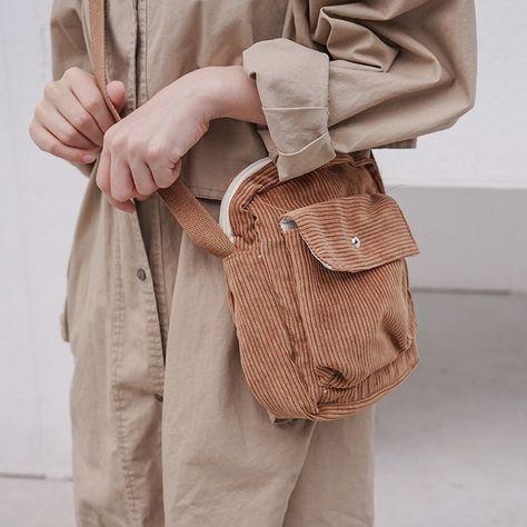 Winter women corduroy flap bag canvas zipper shoulder crossbody bag preppy phone coin money bags