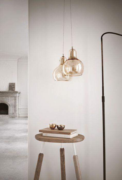 Moderne Verre transparent avec Cuivre Détail Lampe de table de chevet lumière de base