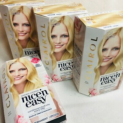 Details About 4 Clairol Nice N Easy Hair Color 10a Extra Light Ash