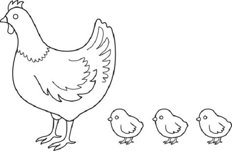 Mother Hen Coloring Page With Images Hens And Chicks Chicken