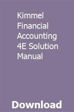 Kimmel Financial Accounting 4e Solution Manual Compressor Air