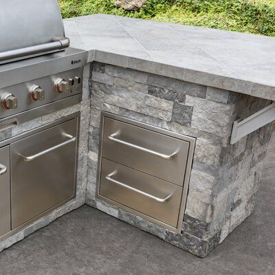 Charbroil 21 8 Stainless Steel Drop In Drawers In 2021 Outdoor Kitchen Cabinets Outdoor Kitchen Plans Outdoor Bbq Kitchen