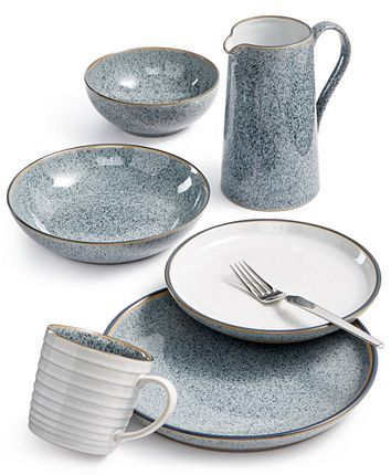 Denby Studio Grey Dinnerware Collection Reviews Dinnerware Dining Macy S Grey Dinnerware Farmhouse Dinnerware Sets Ceramic Dinnerware Set