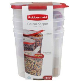 Rubbermaid Cereal Keeper 3 Pk With Images Snack Storage