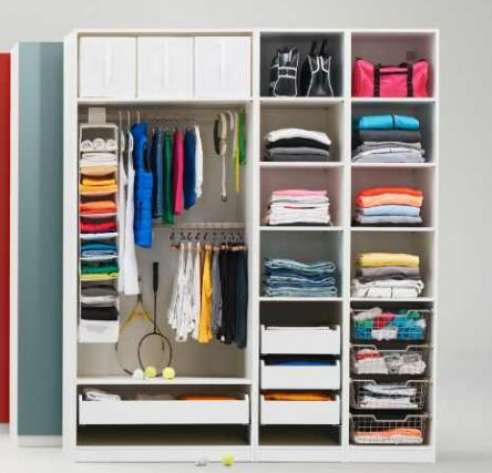 Looks Like Pax From Ikea | DIY   Bedroom Turned Closet | Pinterest |  Wardrobes, Bedrooms And Organizing