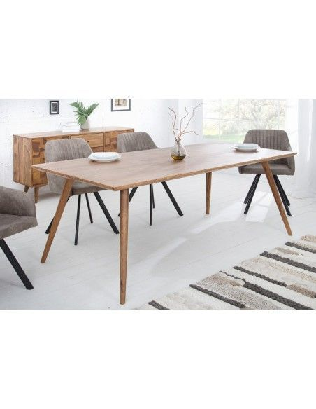 Table A Manger Design Scandinave De 200cm Coloris Naturel En Bois