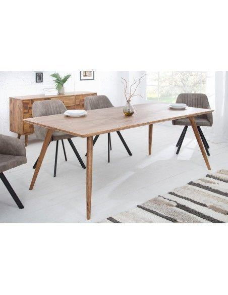 Table A Manger Design Scandinave De 200cm Coloris Naturel En Bois Massif Table A Manger Design Table Salle A Manger Meuble De Style