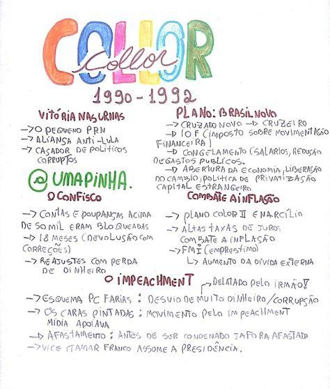 Resumo De História Do Brasil : Collor