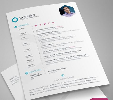 Best Cv Images On   Resume Templates Infographic