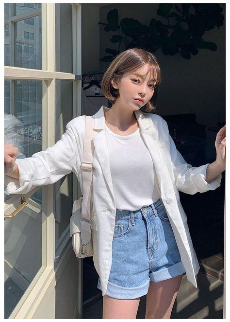 korean summer outfits casual cute asian fashion