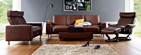 Ekornes Stressless Leather Recliners Sofas Copenhagen Imports