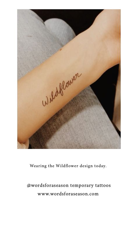 Wildflower Temp Tattoo