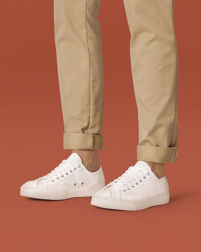 jack purcell white leather